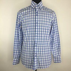 Coogi Shirt Gingham Check L/S Button Down 15 34/35